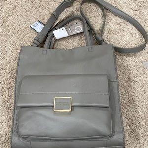 Grey Leather Kenneth Cole Shoulder Bag BR…